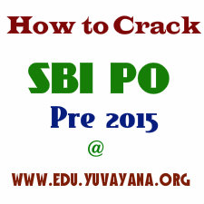 How to crack SBI PO 2015 Pre Exam