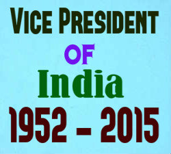 List of Vice President of India 1952-2015
