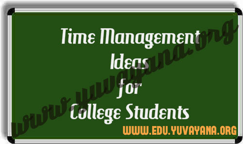 Time management ideas for college students