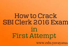 How to crack SBI clerk 2016 exam in first attempt